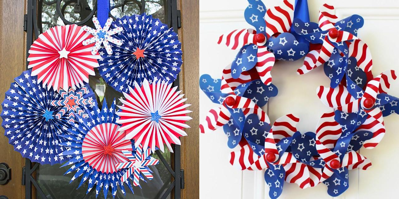 "<p>School's out, the weather is warm, summer is here, and nothing marks everybody's favorite season like decorating with stars, stripes, and the colors of the flag. Sure, the other holidays might be more synonymous with festive wreaths (we're looking at you, Christmas!), but there's no reason you can't hang a <a href=""https://www.womansday.com/4th-of-july/"" target=""_blank"">4th of July</a> wreath on your front door. And, as an added bonus, you can reuse it for <a href=""https://www.womansday.com/life/g2992/memorial-day-activities/"" target=""_blank"">Memorial Day</a> and Labor Day decor. </p><p>These creative and beautiful DIY examples of 4th of July wreaths are not only easy to make and inexpensive, but they put the store-bought ones to shame. (Once you've started on the 4th of July bandwagon, try out one of these easy <a href=""https://www.womansday.com/home/crafts-projects/g2446/4th-of-july-crafts/"" target=""_blank"">4th of July craft</a> ideas to really deck out your house.) Finish off the holiday celebrations by impressing your neighbors at the potluck with one of these <a href=""https://www.womansday.com/food-recipes/food-drinks/g2440/4th-of-july-recipes/"" target=""_blank"">red, white, and blue creations</a> and <a href=""https://www.womansday.com/food-recipes/food-drinks/g1594/4th-of-july-desserts/"">delectable desserts</a>. <br></p>"