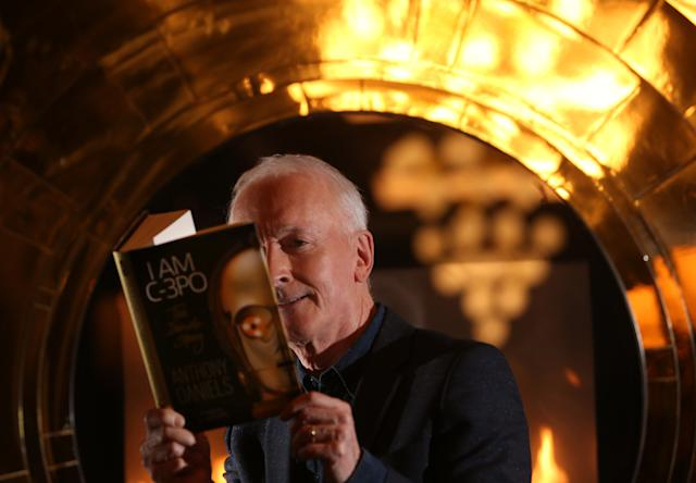 Anthony Daniels, the actor who plays golden robot C-3PO in Star Wars, has written his memoirs titled I am C-3PO . (Steve Russell/Toronto Star via Getty Images)