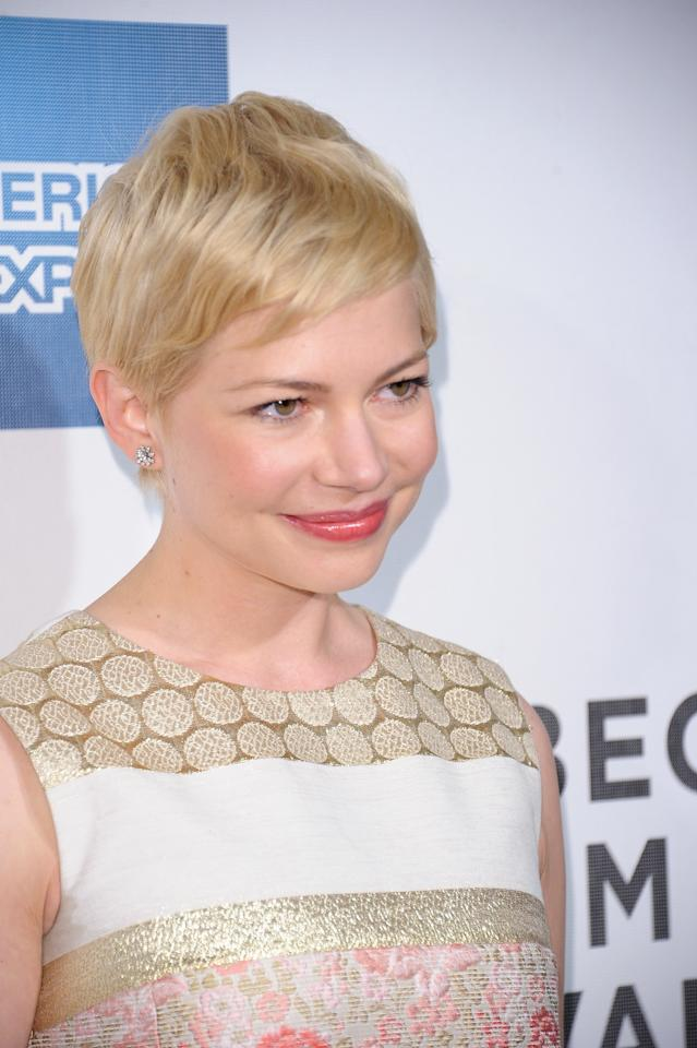 NEW YORK, NY - APRIL 22:  Actress Michelle Williams attends the 2012 Tribeca Film Festival at the Borough of Manhattan Community  College on April 22, 2012 in New York City.  (Photo by Michael Loccisano/Getty Images)