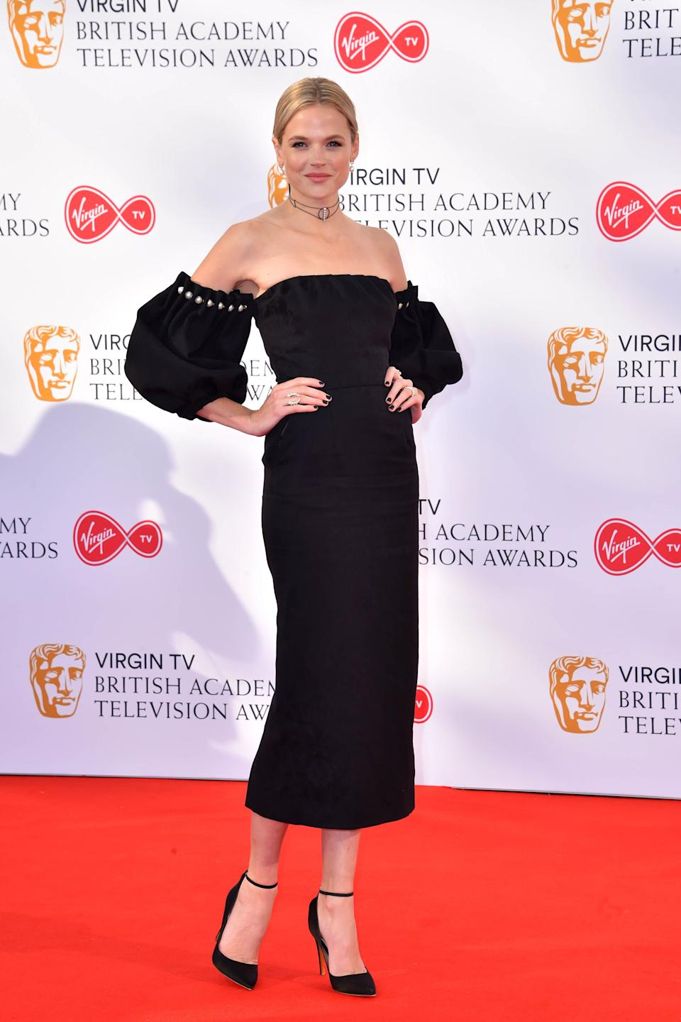 Gabriella Wilde attending the Virgin TV British Academy Television Awards 2018 held at the Royal Festival Hall, Southbank Centre, London.