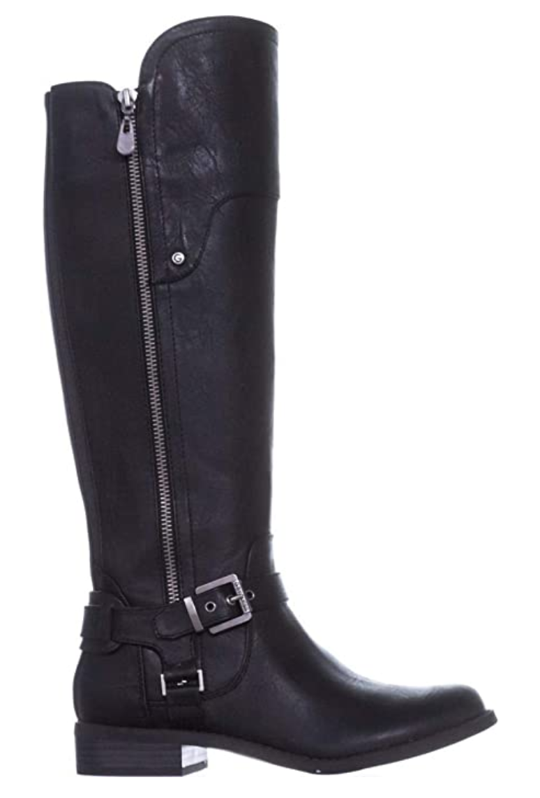 G By Guess Women's Harson Almond Toe Knee High Fashion Boots in Black