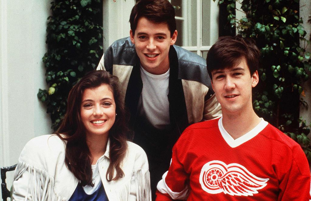 """<a href=""""http://movies.yahoo.com/movie/contributor/1800028488"""">Mia Sara</a>, <a href=""""http://movies.yahoo.com/movie/contributor/1800010807"""">Matthew Broderick</a> and <a href=""""http://movies.yahoo.com/movie/contributor/1800031030"""">Alan Ruck</a> in Paramount Pictures' <a href=""""http://movies.yahoo.com/movie/1800064675/info"""">Ferris Bueller's Day Off</a> - 1986"""
