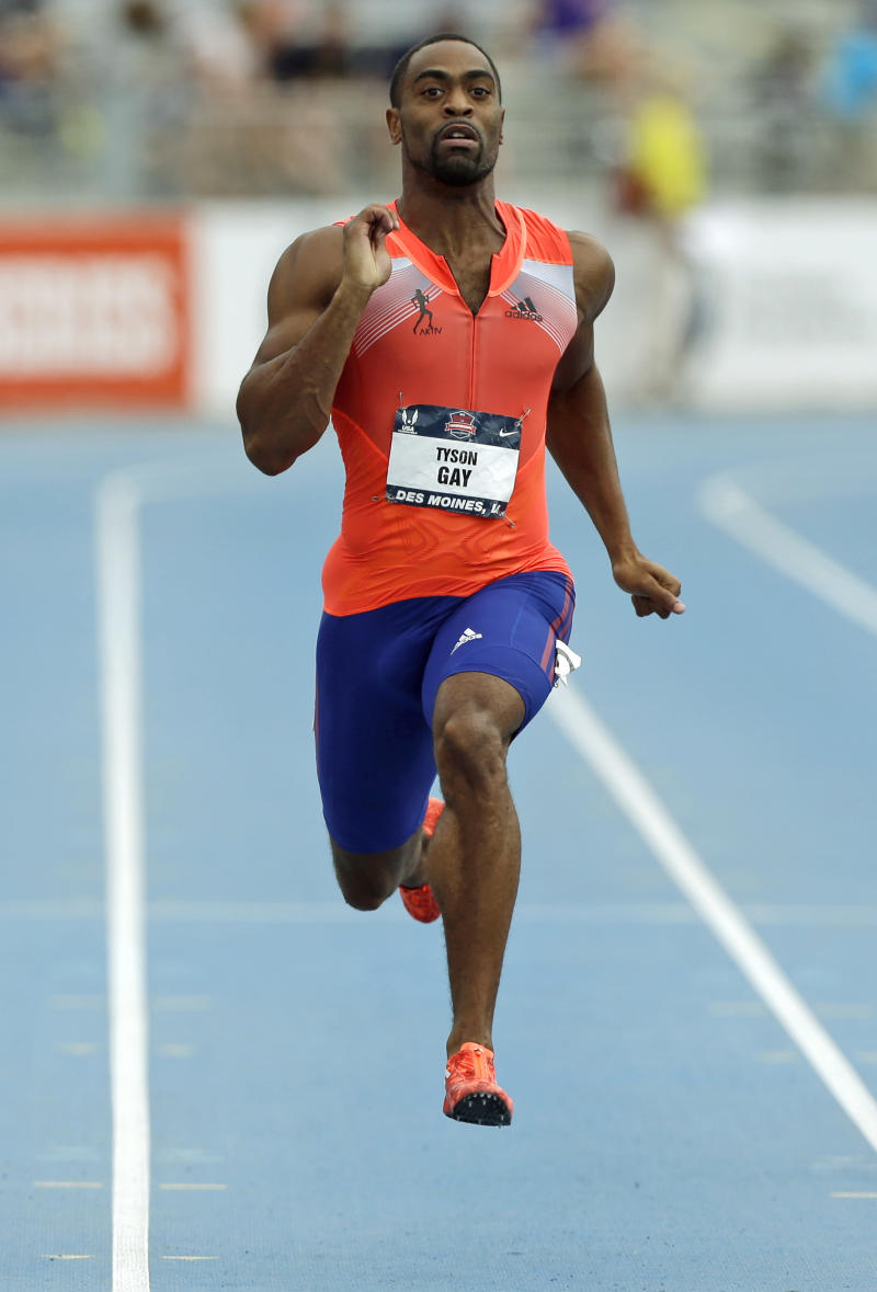 Gay suspended 1 year, returns Olympic silver medal