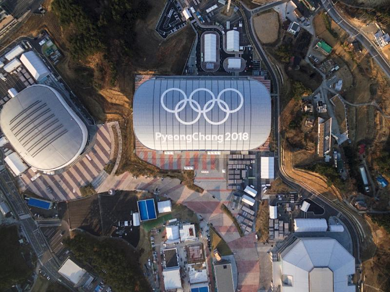 Aerial view of Gangneung shows several venues for the 2018 Pyeongchang Winter Olympics in South Korea (AFP Photo/Yelim LEE)