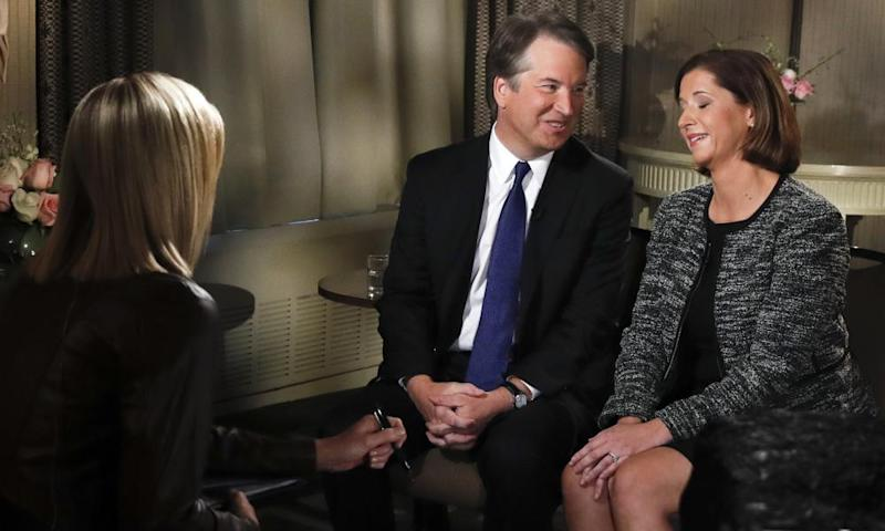 Brett Kavanaugh on Fox with his wife, declaring his innocence.