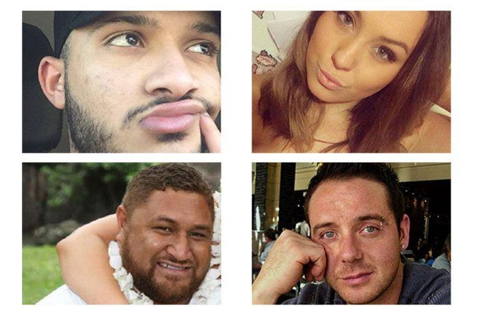 Thunderstorm asthma victims: Omar Moujalled, 18, Hope Carnevali, 20, Clarence Leo and Apollo Papadopoulos.