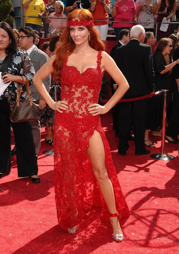 LOS ANGELES, CA - SEPTEMBER 21: Phoebe Price arrives at the 60th Primetime Emmy Awards at the Nokia Theater on September 21, 2008 in Los Angeles, California. (Photo by Steve Granitz/WireImage)