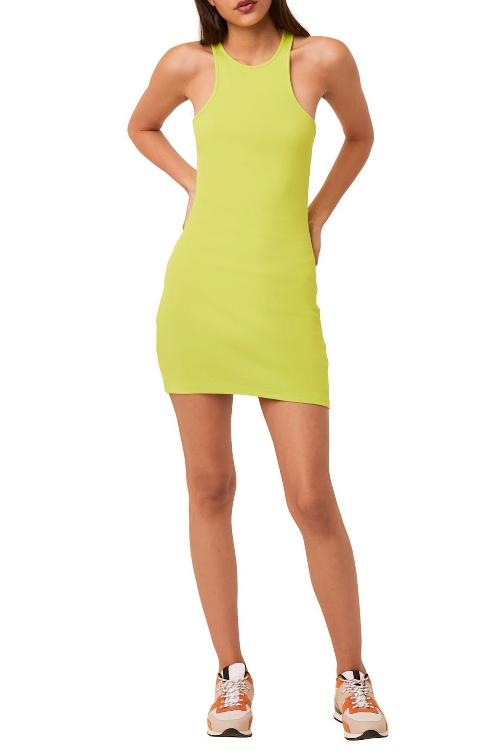 """<h2>French Connection Masha Rib Midi Dress</h2><br>Glow like a lightning bug this hot girl summer with the help of an un-missable lime green hue.<br><br><em>Shop <strong><a href=""""https://www.nordstrom.com/brands/french-connection--260"""" rel=""""nofollow noopener"""" target=""""_blank"""" data-ylk=""""slk:French Connection"""" class=""""link rapid-noclick-resp"""">French Connection</a></strong></em><br><br><strong>French Connection</strong> Rasha Rib Minidress, $, available at <a href=""""https://go.skimresources.com/?id=30283X879131&url=https%3A%2F%2Fwww.nordstrom.com%2Fs%2Ffrench-connection-rasha-rib-minidress%2F5651643%3F%26color%3Dlime%2520punch"""" rel=""""nofollow noopener"""" target=""""_blank"""" data-ylk=""""slk:Nordstrom"""" class=""""link rapid-noclick-resp"""">Nordstrom</a>"""