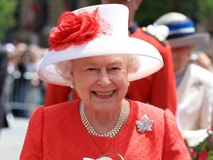 Queen Elizabeth II arrives for Canada Day celebrations on Parliament Hill in Ottawa, Canada on 1 July 2010 (Getty Images)