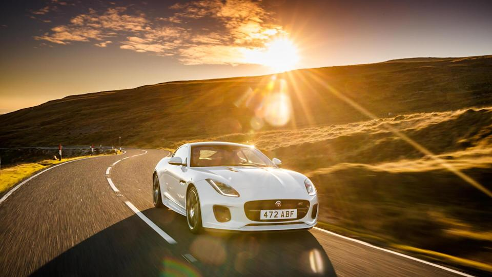 2020 Jaguar F-Type chequered flag