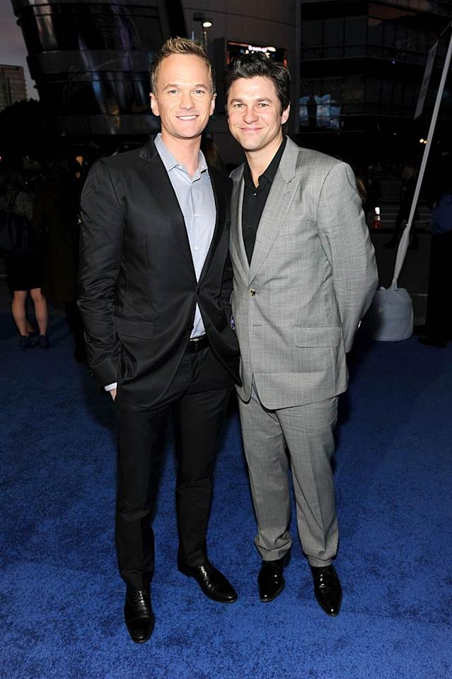 "New dads Neil Patrick Harris and David Burtka left their twin babies at home and suited up for a night on the town! Frazer Harrison/<a href=""http://www.gettyimages.com/"" target=""new"">GettyImages.com</a> - January 5, 2011"