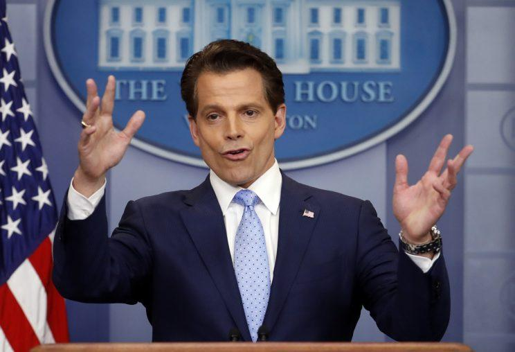 New White House communications director Anthony Scaramucci addresses the daily briefing at the White House in Washington, D.C., on July 21, 2017. (Photo: Reuter/Jonathan Ernst)