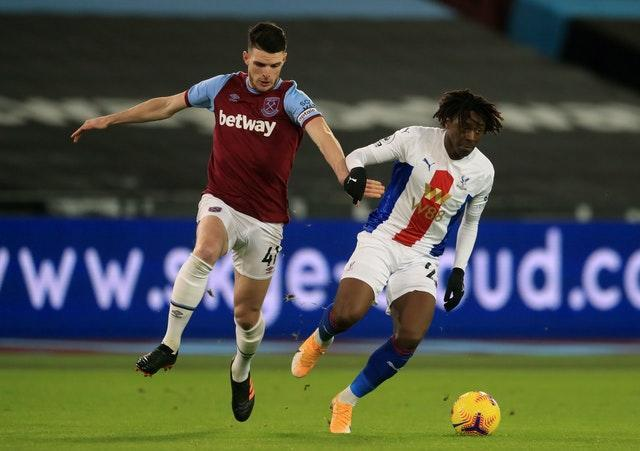 Eberechi Eze, right, made a bright start at the London Stadium