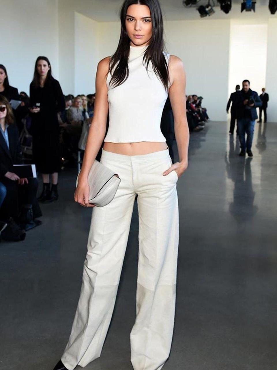 <p>Kendall Jenner at Calvin Klein during New York Fashion Week, February 2016.</p>