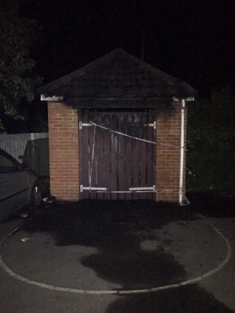 A bin store was also damaged in Chippenham (Wiltshire Police/PA).