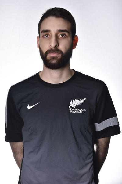 In this July 5, 2015 photo, New Zealand futsal player Atta Elayyan poses for a portrait in Wellington, New Zealand. Elyayyan was a victim in the mass shootings at the Al Noor Mosque in Christchurch on Friday, March 15, 2019. (Marty Melville/Photosport via AP)