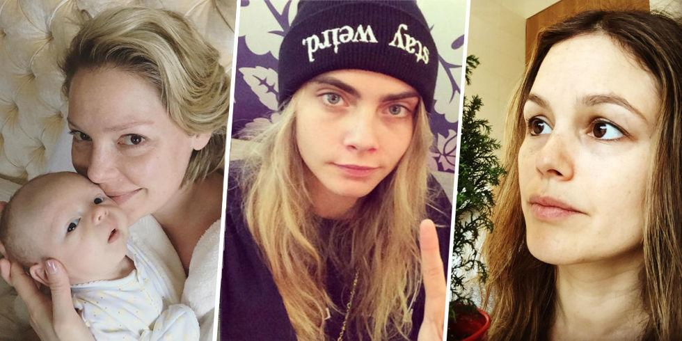 <p>Ah, stars without makeup, the rare breed of creature seen only sparingly out in the wild i.e. on Instagram. Here, a sociological survey of all the recent sightings.</p>