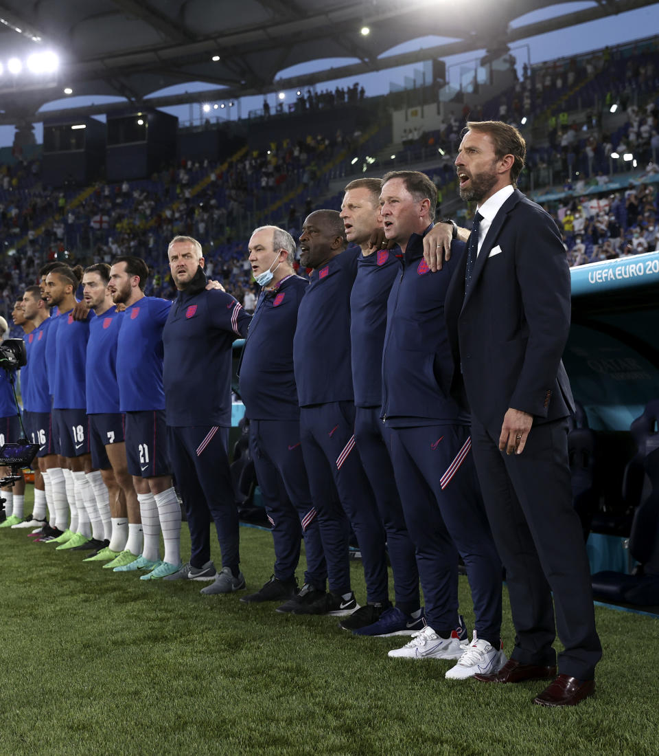 Fashion house Percival are behind the England football manager's style this Euros.  (Getty Images)