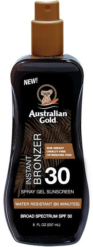 """<h3>Australian Gold Instant Bronzer Spray Gel Sunscreen SPF 30</h3><br><strong>The SPF Self Tanner</strong><br><br>Fans love Australian Gold's self-tanning gel because of the built-in SPF 30 and under-$10 price tag. <br><br><strong>The Hype:</strong> 4.9 out of 5 stars and 583 reviews on <a href=""""https://www.ulta.com/instant-bronzer-spray-gel-sunscreen-spf-30?productId=pimprod2012277"""" rel=""""nofollow noopener"""" target=""""_blank"""" data-ylk=""""slk:Ulta Beauty"""" class=""""link rapid-noclick-resp"""">Ulta Beauty</a><br><br><strong>Reviewers Say: </strong>""""Australian Gold spray gel is ALL I use. I am a flight attendant and travel quite often and this is a must-pack for me. Not only does it work like magic and give me the best bronze tan, I never burn, and it smells magical!"""" — yogameetstravel, Ulta Reviewer<br><br><strong>Australian Gold</strong> Instant Bronzer Spray Gel Sunscreen SPF 30, $, available at <a href=""""https://go.skimresources.com/?id=30283X879131&url=https%3A%2F%2Fwww.ulta.com%2Finstant-bronzer-spray-gel-sunscreen-spf-30%3FproductId%3Dpimprod2012277"""" rel=""""nofollow noopener"""" target=""""_blank"""" data-ylk=""""slk:Ulta Beauty"""" class=""""link rapid-noclick-resp"""">Ulta Beauty</a>"""