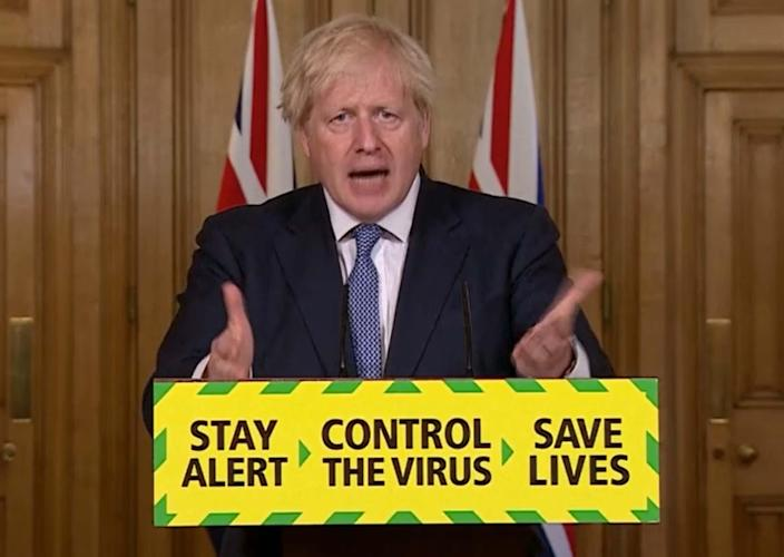 Boris Johnson said he was 'really, really sorry' the lockdown changes were being delayed. (Photo by PA Video/PA Images via Getty Images)