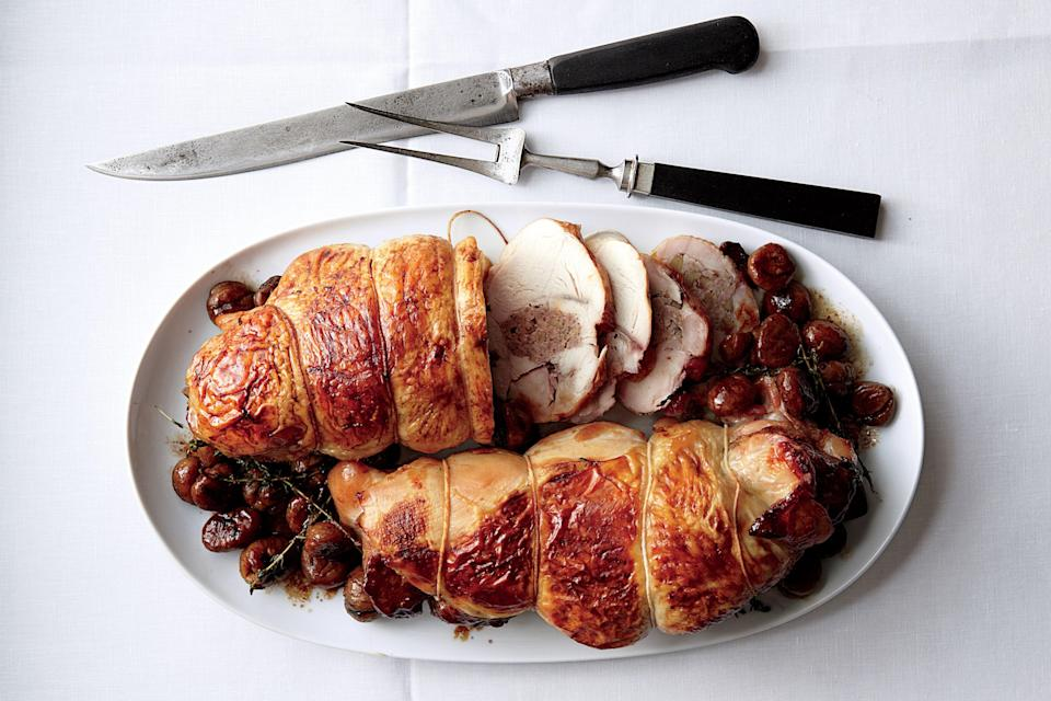 """<a href=""""https://www.epicurious.com/recipes/food/views/boudin-blanc-stuffed-turkey-breasts-with-chestnuts-51205440?mbid=synd_yahoo_rss"""" rel=""""nofollow noopener"""" target=""""_blank"""" data-ylk=""""slk:See recipe."""" class=""""link rapid-noclick-resp"""">See recipe.</a>"""