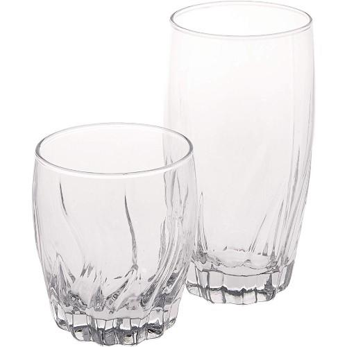 Anchor Hocking Central Park Small and Large Drinking Glasses, 16-Piece Glassware Set. (Photo: Amazon)