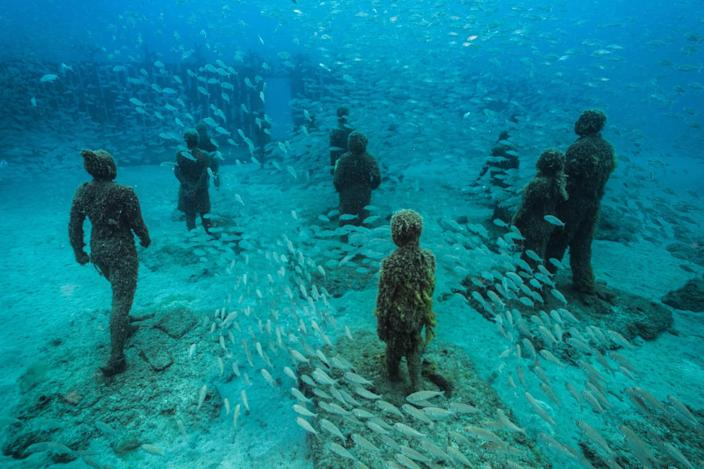 Jason deCaires Taylor's previous underwater museum was off of the Canary Islands.