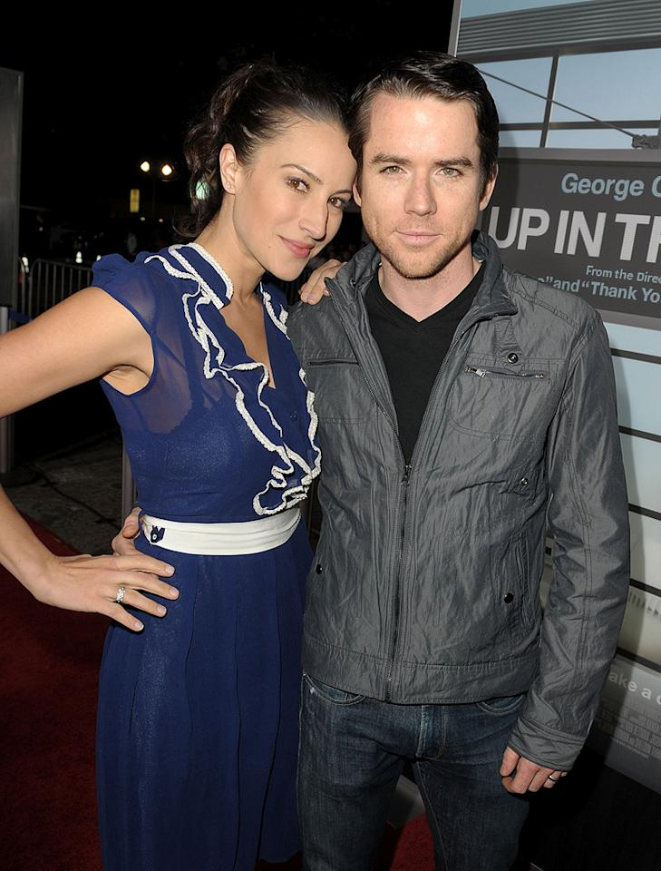 """<a href=""""http://movies.yahoo.com/movie/contributor/1808646500"""">America Olivo</a> and <a href=""""http://movies.yahoo.com/movie/contributor/1800019728"""">Christian Campbell</a> at the Los Angeles premiere of <a href=""""http://movies.yahoo.com/movie/1810062520/info"""">Up in the Air</a> - 11/30/2009"""