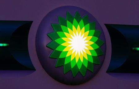 The logo of BP is seen at a petrol station in Kloten, Switzerland October 3, 2017. REUTERS/Arnd Wiegmann