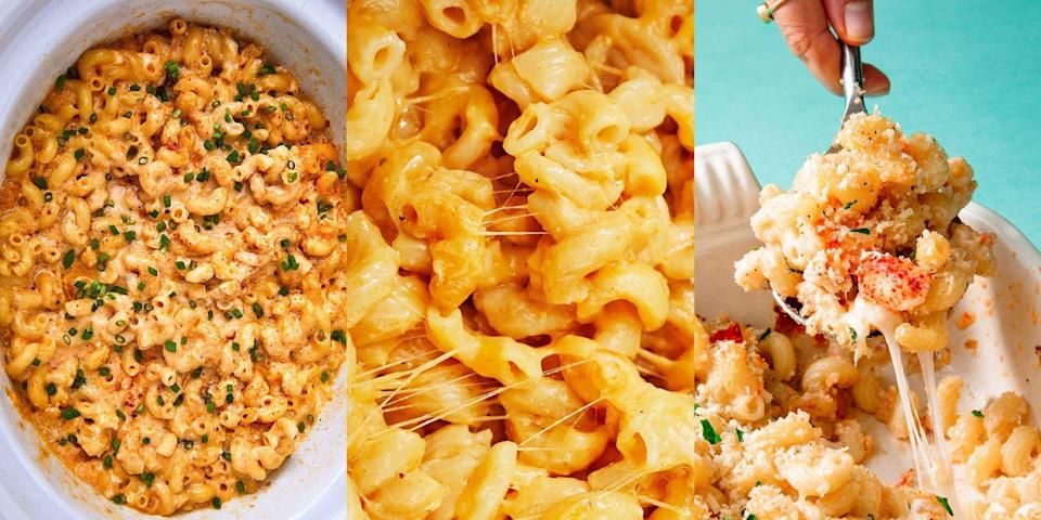 """<p>Carbs, carbs, carbs, aka mac and cheese. But how do you tackle this serious comfort food? Well, there are a number of ways. You can cook it in the almighty <a href=""""https://www.delish.com/uk/cooking/recipes/a29259468/slow-cooker-mac-cheese-recipe/"""" rel=""""nofollow noopener"""" target=""""_blank"""" data-ylk=""""slk:slow cooker"""" class=""""link rapid-noclick-resp"""">slow cooker</a> (you heard me), make it into little <a href=""""https://www.delish.com/uk/cooking/recipes/a28830821/mac-n-cheese-waffles-recipe/"""" rel=""""nofollow noopener"""" target=""""_blank"""" data-ylk=""""slk:mac and cheese waffles"""" class=""""link rapid-noclick-resp"""">mac and cheese waffles</a> or even enjoy it as a selection of <a href=""""http://www.delish.com/uk/cooking/recipes/a30992624/mac-and-cheese-pizza-bites-recipe/"""" rel=""""nofollow noopener"""" target=""""_blank"""" data-ylk=""""slk:mac and cheese pizza bites"""" class=""""link rapid-noclick-resp"""">mac and cheese pizza bites</a>. Whatever you decide to do, be sure to check out our favourite mac and cheese recipes first... You're welcome!</p>"""
