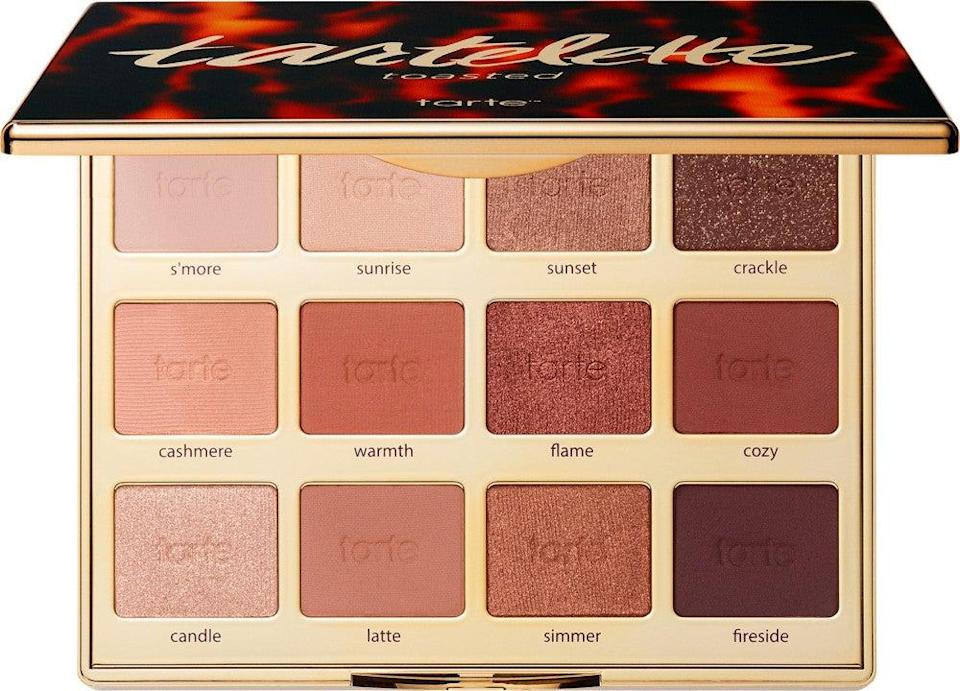 "<h2>Tarte Cosmetics Tartelette Toasted Eyeshadow Palette</h2><br>""The colors of this palette fall more on the copper side, which makes for a great neutral option if you have a medium-deep complexion like mine. I love to combine Warmth and Flame on my lids when I'm in a pinch before work, but when I have extra time on my hands, Crackle, Cozy, and Fireside is my go-to date-night trifecta."" — Aimee Simeon, senior beauty writer<br><br><strong>Tarte</strong> Tarte Tartelette Toasted Eyeshadow Palette, $, available at <a href=""https://go.skimresources.com/?id=30283X879131&url=https%3A%2F%2Fwww.ulta.com%2Ftartelette-toasted-eyeshadow-palette%3FproductId%3DxlsImpprod17081379"" rel=""nofollow noopener"" target=""_blank"" data-ylk=""slk:Ulta Beauty"" class=""link rapid-noclick-resp"">Ulta Beauty</a>"