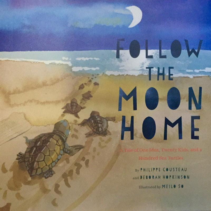 """Follow The Moon Home"" shows how young people can make a difference through determination and teamwork. <i>(Available <a href=""https://www.amazon.com/Follow-Moon-Home-Hundred-Turtles/dp/145211241X"" target=""_blank"" rel=""noopener noreferrer"">here</a>)</i>"
