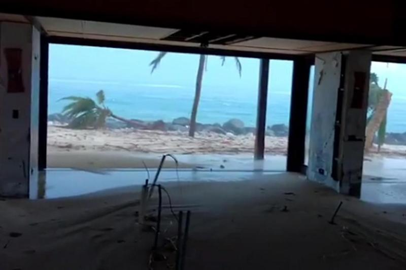 The scene after Hurricane Irma swept across Branson's Necker Island (Instagram)