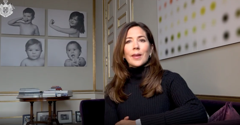 Princess Mary in a black polo top