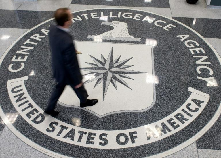 The Central Intelligence Agency's seal on the floor of its headquarters in Langley, Virginia (AFP Photo/SAUL LOEB)