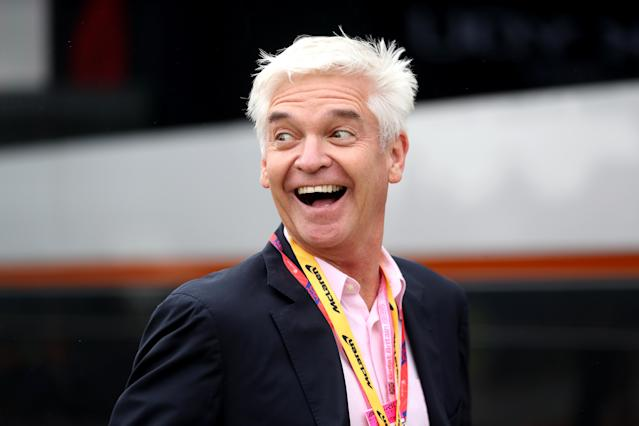 Phillip Schofield attending the British Grand Prix at Silverstone, Towcester. (David Davies/PA Images via Getty Images)