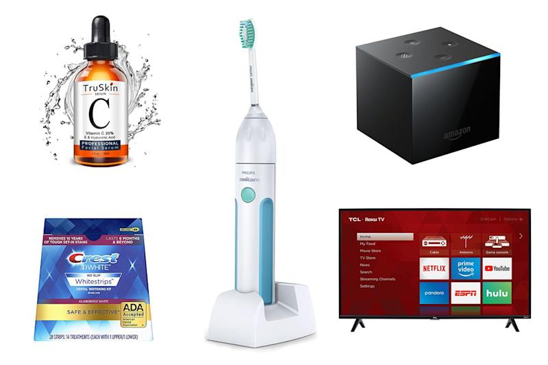 These amazing Amazon deals on its best-selling vitamin C serum, teeth whitening kits, and smart televisions won't last long