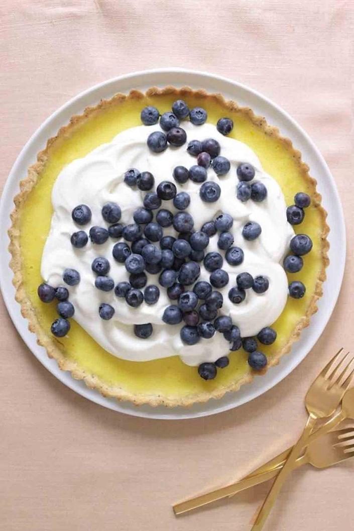 "<p>Mom will enjoy every bite of this irresistible tart topped with fresh blueberries. </p><p><em><a href=""https://www.womansday.com/food-recipes/food-drinks/recipes/a53988/lemon-poppy-seed-tart-recipe/"" rel=""nofollow noopener"" target=""_blank"" data-ylk=""slk:Get the recipe for Lemon Poppy Seed Tart."" class=""link rapid-noclick-resp"">Get the recipe for Lemon Poppy Seed Tart.</a> </em><br></p>"