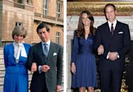 "<p>Kate Middleton and Prince William's <a href=""https://www.hellomagazine.com/royalty/gallery/2019042972401/kate-middleton-prince-william-love-story-photos-then-and-now/1/"" rel=""nofollow noopener"" target=""_blank"" data-ylk=""slk:meet-cute"" class=""link rapid-noclick-resp"">meet-cute</a> is the stuff of fairytales. The royal couple came across each other while attending University of St. Andrews, with Kate catching William's eye as she strutted down the catwalk for a charity fashion show. The prince was smitten and, years later, they exchanged sacred vows at Westminister Abbey in front of the world. Today, Kate and William are the proud parents of three precious little ones: George, Charlotte, and Louis. </p>"