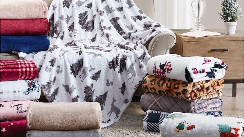 These cozy blankets are marked down to less than $10.