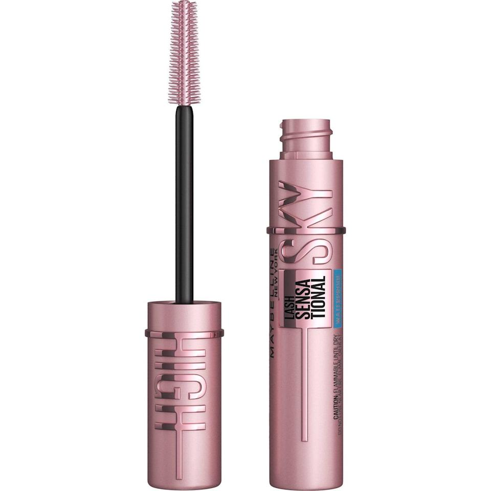 """<p>The <span>Maybelline Lash Sensational Sky High Mascara</span> ($9) is a TikTok favorite, and it delivers such bold and voluminous results that one of our editors once referred to it as <a href=""""https://www.popsugar.com/beauty/maybelline-lash-sensational-sky-high-mascara-review-48044870"""" class=""""link rapid-noclick-resp"""" rel=""""nofollow noopener"""" target=""""_blank"""" data-ylk=""""slk:&quot;lash extensions in a tube.&quot;"""">""""lash extensions in a tube.""""</a> </p>"""