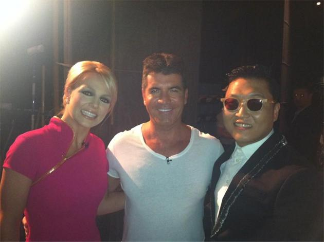 Celebrity photos: Britney Spears and Simon Cowell were firmly on the promotional trail this week ahead of the launch of X Factor USA. They appeared on TV shows together, with pictures of them backstage being tweeted. However, it seems that the show could already be in crisis, with viewing figures down on last year's premiere.