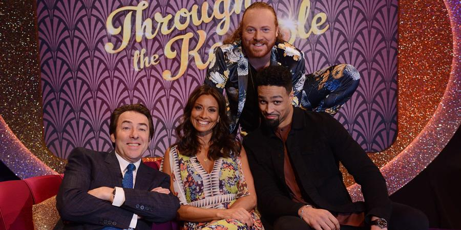 Melanie Sykes appeared on 'Through the Keyhole' in 2018, with Jonathan Ross and Ashley Banjo also on the panel. (ITV)