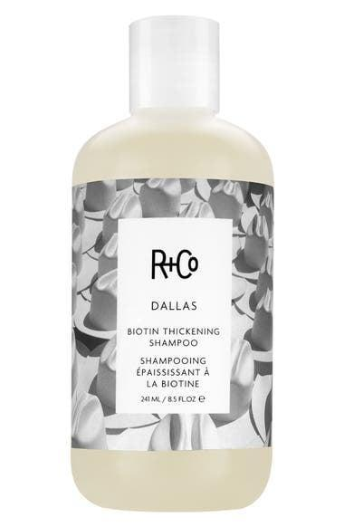 <p>If you have fine and thin hair, give your hair the right boost with the <span>R+Co Dallas Biotin Thickening Shampoo</span> ($29). It will strengthen your hair from root to tip.</p>
