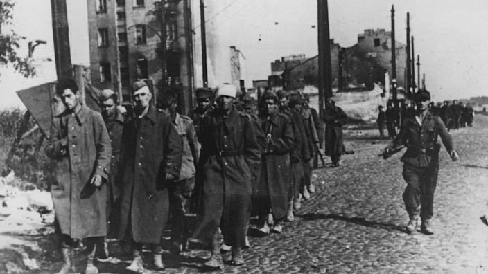 Polish soldiers surrendered after 63 days of fighting and were taken as prisoners of war