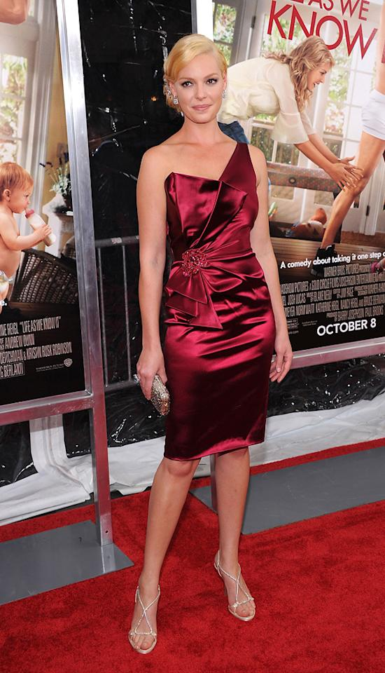 """<a href=""""http://movies.yahoo.com/movie/contributor/1800018759"""">Katherine Heigl</a> at the New York City premiere of <a href=""""http://movies.yahoo.com/movie/1810126237/info"""">Life as We Know It</a> on September 30, 2010."""
