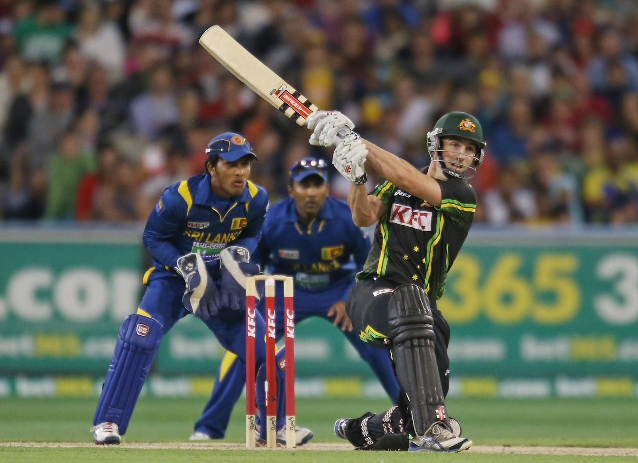 MELBOURNE, AUSTRALIA - JANUARY 28:  Shaun Marsh of Australia bats during game two of the Twenty20 International series between Australia and Sri Lanka at the Melbourne Cricket Ground on January 28, 2013 in Melbourne, Australia.  (Photo by Scott Barbour/Getty Images)
