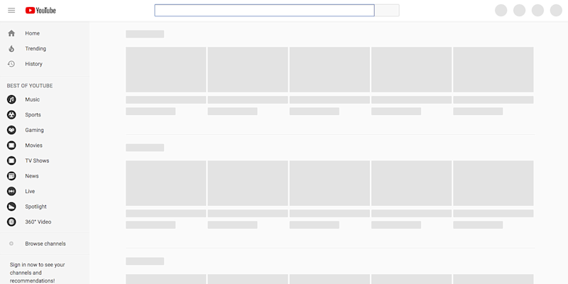 YouTube went down for over an hour during an abrupt