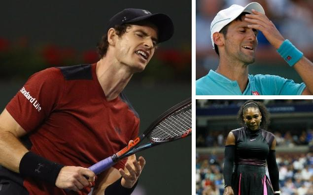 Andy Murray, Novak Djokovic and Serena Williams have all missed the Miami Open through injury - getty images/epa