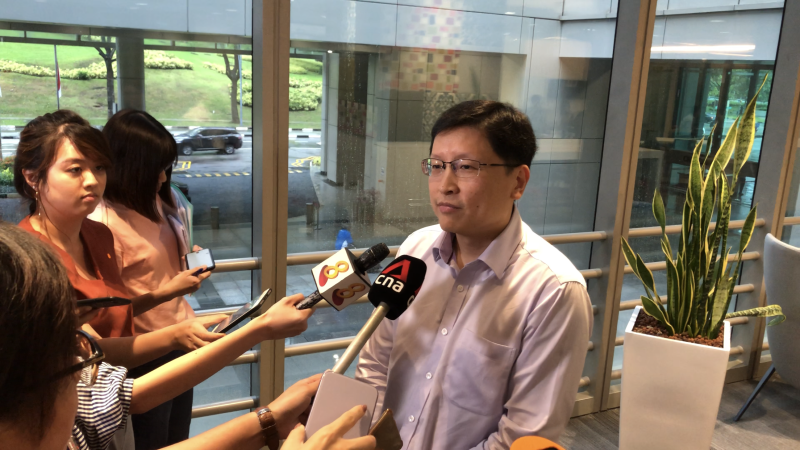 Singapore's deputy director-general of education Sng Chern Wei addresses reporters at the Ministry of Education on Monday, 2 December 2019. PHOTO: Nicholas Yong/Yahoo News Singapore